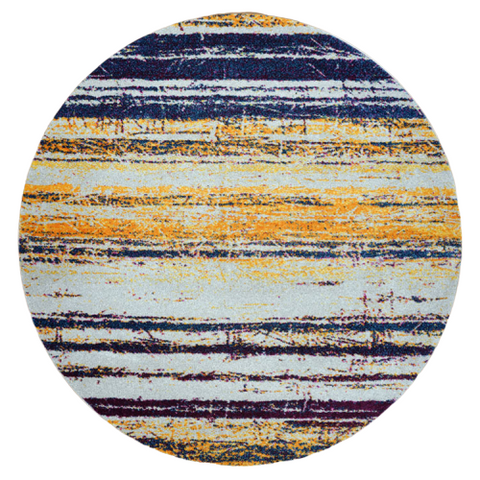 Kara 929 Multi Colour Modern Abstract Pattern Round Rug - Rugs Of Beauty - 1
