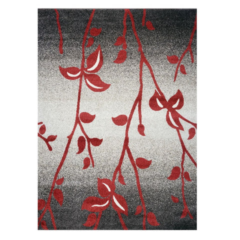 Kara 930 Red Beige Grey Floral Modern Abstract Pattern Rug - Rugs Of Beauty - 1