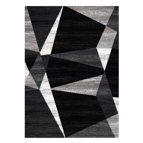 Kara 931 Black Grey Beige Geometric Modern Abstract Pattern Rug - Rugs Of Beauty - 1