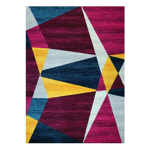 Kara 931 Multi Colour Geometric Modern Abstract Pattern Rug - Rugs Of Beauty - 1