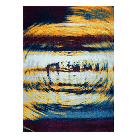 Kara 932 Multi Colour Swirl Modern Abstract Pattern Rug - Rugs Of Beauty - 1