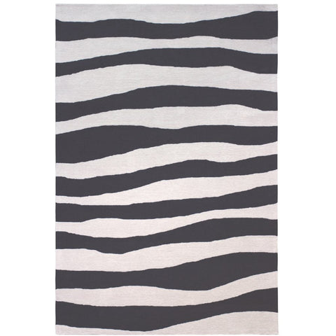 Cayenne Black Indoor Outdoor Waves Patterned Rug - Rugs Of Beauty