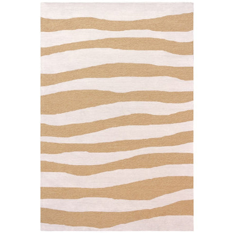 Cayenne Orange Indoor Outdoor Waves Patterned Rug - Rugs Of Beauty