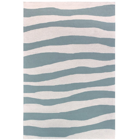 Cayenne Aqua Blue Indoor Outdoor Waves Patterned Rug - Rugs Of Beauty