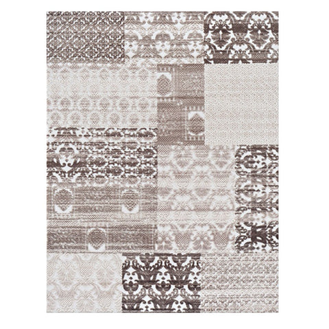 Meknes 337 Brown Modern Patterned Textured Rug - Rugs Of Beauty - 1