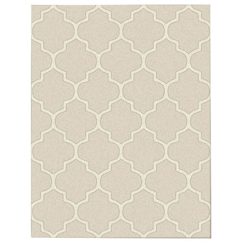 Dover Lattice Beige Cream Modern Trellis Rug - 1