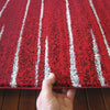 Dover Red White Grey Abstract Lines Modern Rug - 6