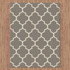 Dover Lattice Grey Beige Modern Trellis Rug - 2