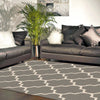 Dover Lattice Grey Beige Modern Trellis Rug - 5