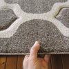 Dover Lattice Grey Beige Modern Trellis Rug - 7