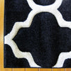 Dover Lattice Black White Modern Trellis Rug - 4