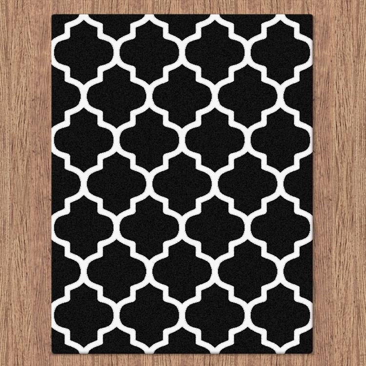 Attractive Dover Lattice Black White Modern Trellis Rug – Rugs Of Beauty SC76