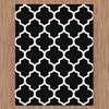 Dover Lattice Black White Modern Trellis Rug - 2