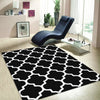 Dover Lattice Black White Modern Trellis Rug - 3