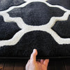 Dover Lattice Black White Modern Trellis Rug - 6