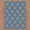 Dover Lattice Grey Blue Modern Trellis Rug - 3