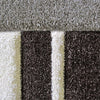 Dover Grey Abstract Multi Coloured Border Modern Rug - 3