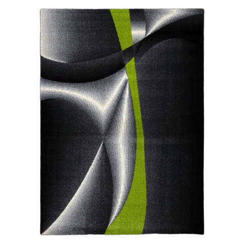 Guildford 645 Lime Green Charcoal White Modern Patterned Rug - Rugs Of Beauty - 1