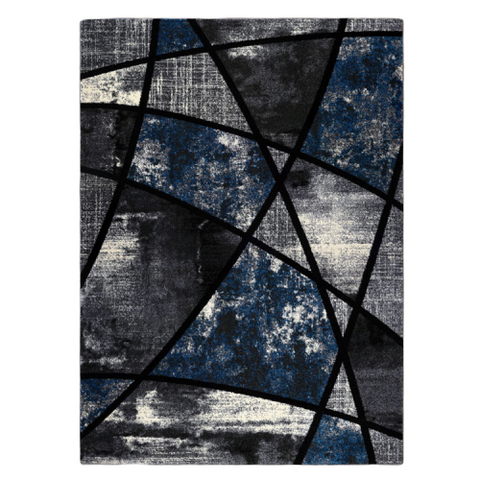 Guildford 646 Opal Charcoal White Modern Abstract Patterned Rug - Rugs Of Beauty - 1