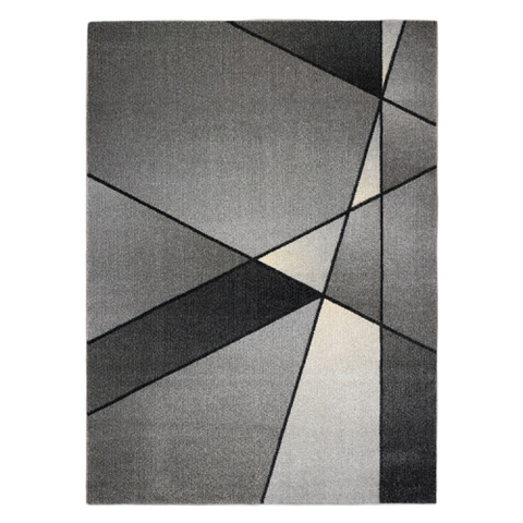 Guildford 647 Smoke Grey Modern Abstract Patterned Rug - Rugs Of Beauty - 1
