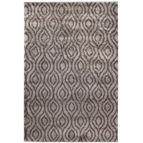 Parime Grey and Beige Honeycomb Pattern Rug - Rugs Of Beauty