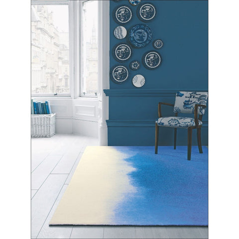 Bluebellgray Prussian 17708 Designer Wool Rug - Rugs Of Beauty - 1