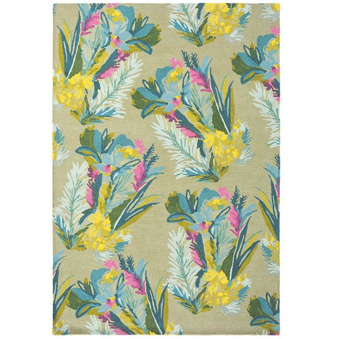 Bluebellgray Jungle 18307 Modern Designer Floral Wool Rug - Rugs Of Beauty - 1