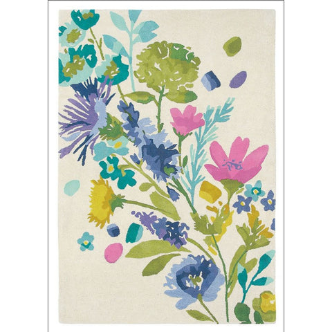 Bluebellgray Tetbury Meadow 19201 Floral Blooms Designer Wool Rug - Rugs Of Beauty