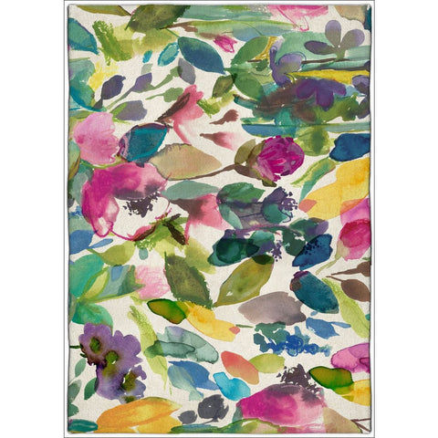 Bluebellgray Mode 19507 Designer Floral Wool Rug - Rugs Of Beauty - 1