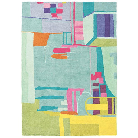 Bluebellgray Amal 19707 Modern Designer Wool Rug - Rugs Of Beauty - 1