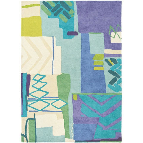 Bluebellgray Atlas 19808 Modern Abstract Designer Wool Rug - Rugs Of Beauty - 1