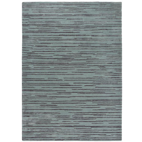Florence Broadhurst Slub Charcoal 039405 Designer Wool Viscose Rug - Rugs Of Beauty - 1