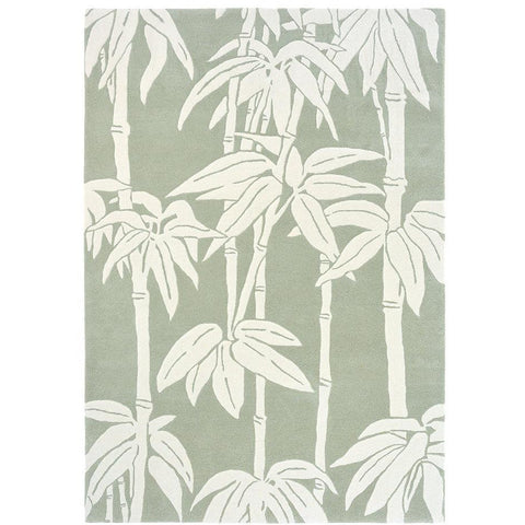 Florence Broadhurst Japanese Bamboo Jade 039507 Designer Wool Rug - Rugs Of Beauty - 1