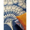 Florence Broadhurst Japanese Floral Midnight 039708 Designer Wool Rug - Rugs Of Beauty - 4