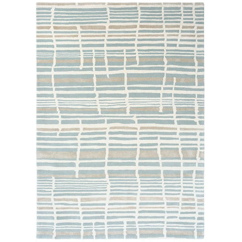 Florence Broadhurst Tortoiseshell Stripe Jade 039808 Designer Wool Rug - Rugs Of Beauty - 1