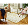 Florence Broadhurst Waterwave Stripe Citron 039906 Designer Wool Rug - Rugs Of Beauty - 2