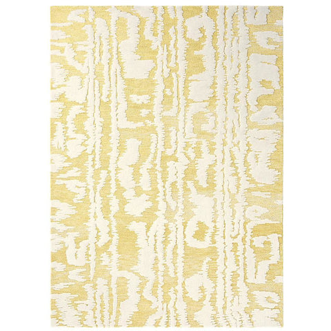 Florence Broadhurst Waterwave Stripe Citron 039906 Designer Wool Rug - Rugs Of Beauty - 1