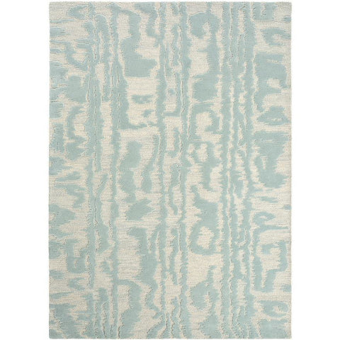 Florence Broadhurst Waterwave Stripe Pearl 039908 Designer Wool Rug - Rugs Of Beauty - 1