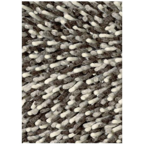 Brink & Campman Gravel Mix 68211 White Taupe Brown Designer Shaggy Wool Rug - Rugs Of Beauty - 1