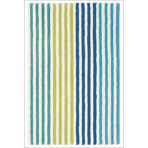 Harlequin Boogie Woogie Marine 42008 Modern Kids Striped Wool Rug - Rugs Of Beauty