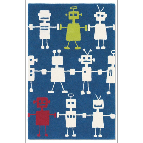 Harlequin Reggie Robot 42408 Modern Designer Kids Rug - Rugs Of Beauty