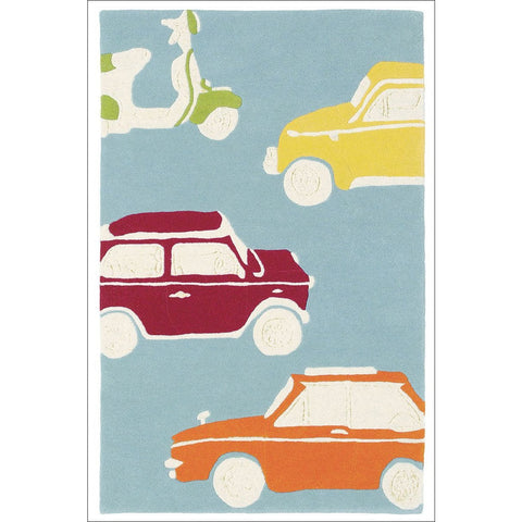 Harlequin Go Go Retro 42608 Modern Designer Kids Cars Rug - Rugs Of Beauty