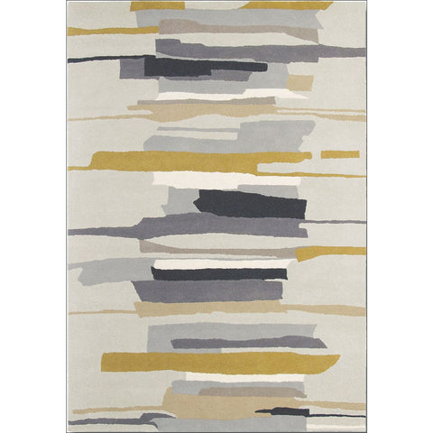 Harlequin Zeal Pewter 43004 Modern Designer Abstract Rug - Rugs Of Beauty