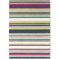Harlequin Barcode Plum 43702 Designer Modern Striped Wool Rug - Rugs Of Beauty