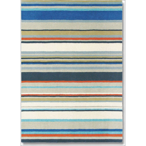 Harlequin Barcode Petrol 43708 Modern Designer Striped Wool Rug - Rugs Of Beauty