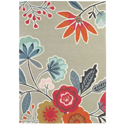 Harlequin Caspia Auburn 44504 Designer Hand Tufted Wool Floral Rug - Rugs Of Beauty