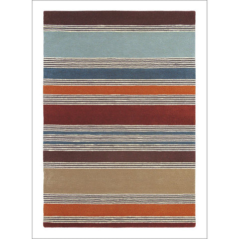 Harlequin Affinity Russet 44703 Modern Rustic Designer Striped Wool Rug - Rugs Of Beauty