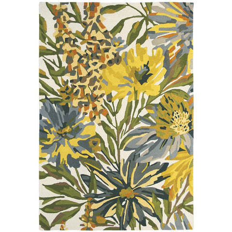 Harlequin Floreale Maize 44906 Designer Modern Floral Wool Rug - Rugs Of Beauty