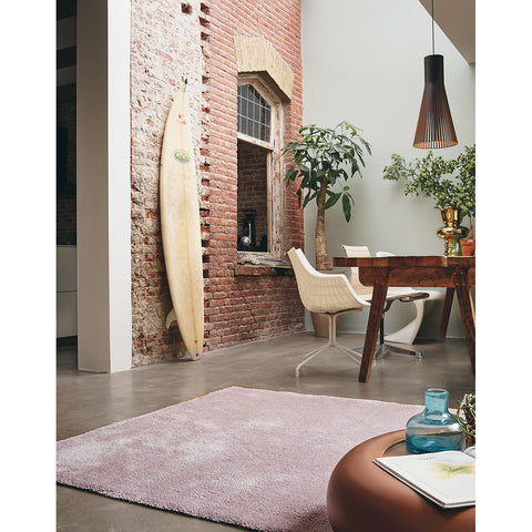 Brink & Campman Hermitage 21902 Light Pink Designer Shaggy Wool Rug - Rugs Of Beauty - 1