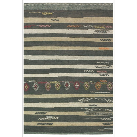 Brink & Campman Himali Jade 34705 Designer Striped Wool Rug - Rugs Of Beauty